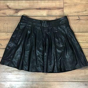 Banana Republic lamb leather mini skirt
